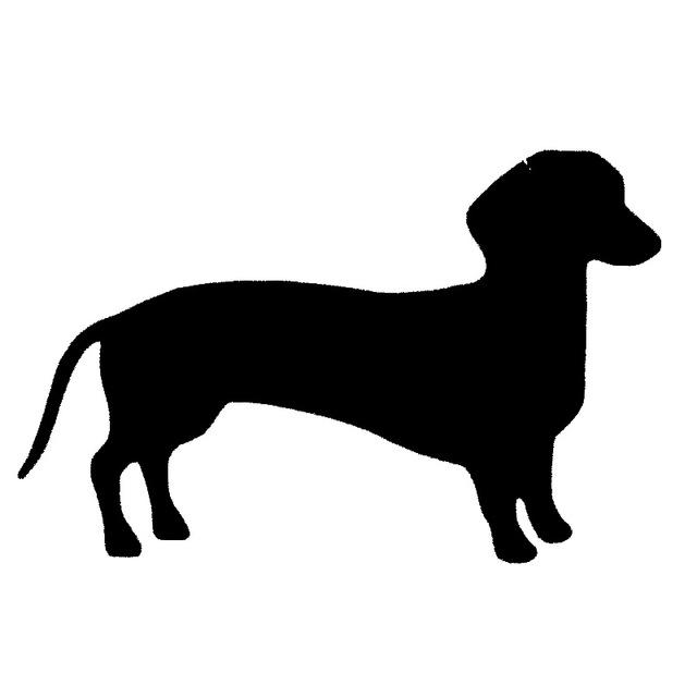 Weenie Dog Silhouette