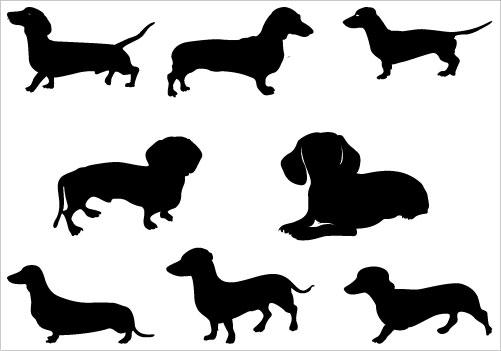 501x351 Dachshund Clipart Image Dachshund Dog Silhouette Cute Weiner