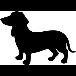 263x262 Wiener Dog Silhouette Cricut Dog Silhouette