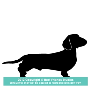 300x300 Dachshund Dog Silhouette Gifts, Stationery, Address Labels Amp Note