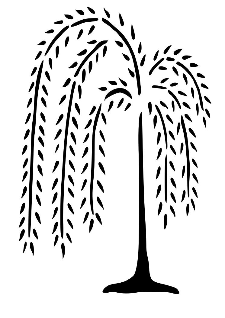 745x1053 Weeping Willow Tree Wall Decal