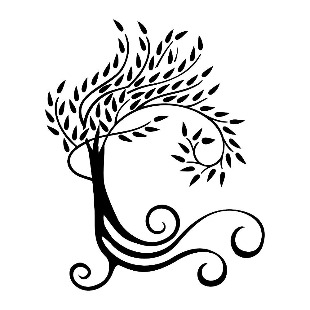 weeping willow tree silhouette at getdrawings com free for rh getdrawings com willow tree clipart black and white willow tree clipart black and white