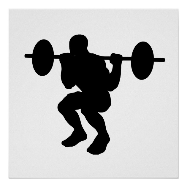 630x630 Squat Silhouette Poster