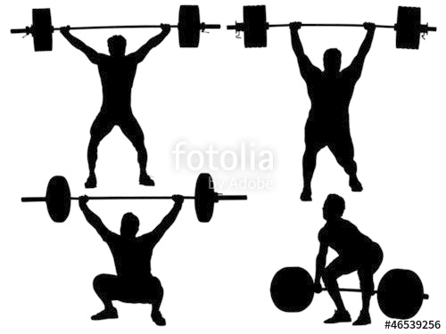 500x375 Weight Lifting Silhouette Stock Image And Royalty Free Vector