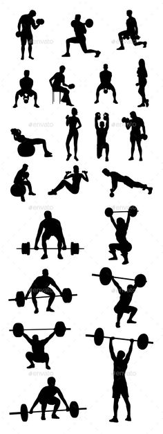 236x627 Weight Lifting Silhouette Vector Download Desserts