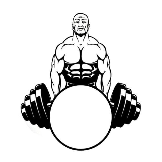 640x640 14.7cm16.9cm Interesting Weightlifting Bodybuilding Sports