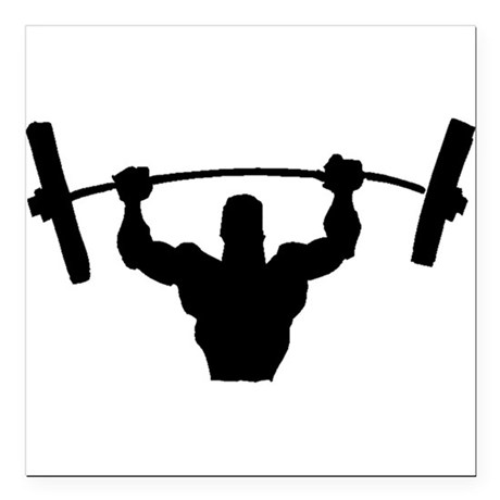 460x460 Weightlifting Silhouette Car Accessories