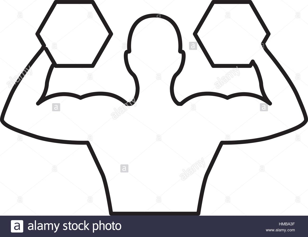 1300x999 Weight Lifting Athlete Silhouette Vector Illustration Design Stock