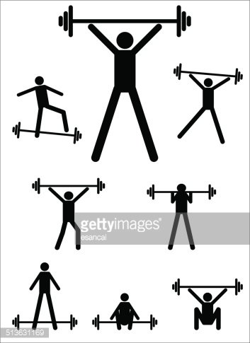 353x485 Sport Of Weightlifting Premium Clipart