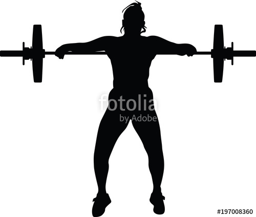 500x424 Weight Lifting Girl Stock Image And Royalty Free Vector Files