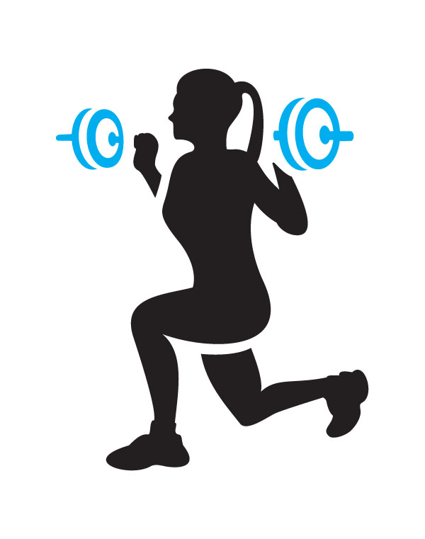 600x761 Fitness Training Clipart