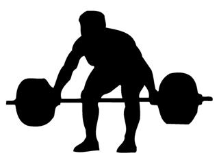 320x234 Powerlifter Silhouette 2 Decal Sticker