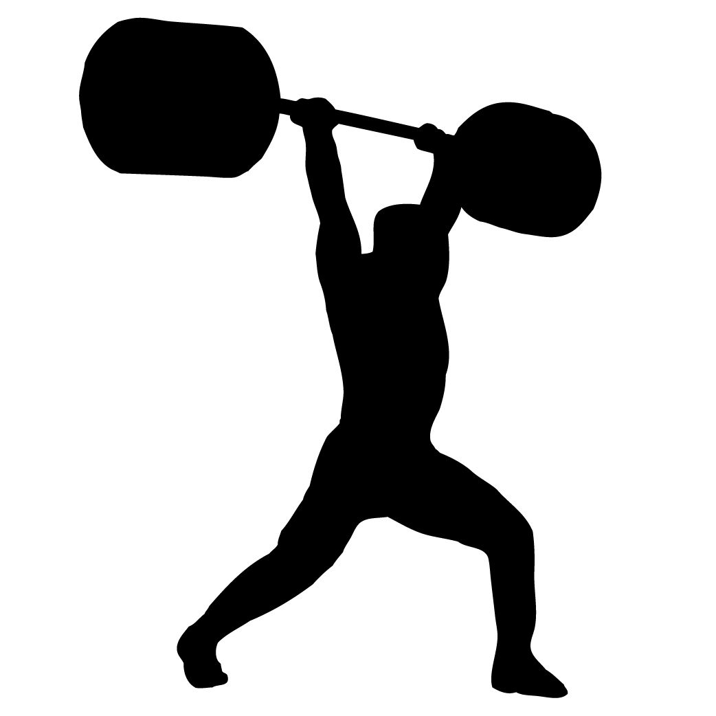 1042x1042 Weightlifter Silhouette Crossfit Silhouettes
