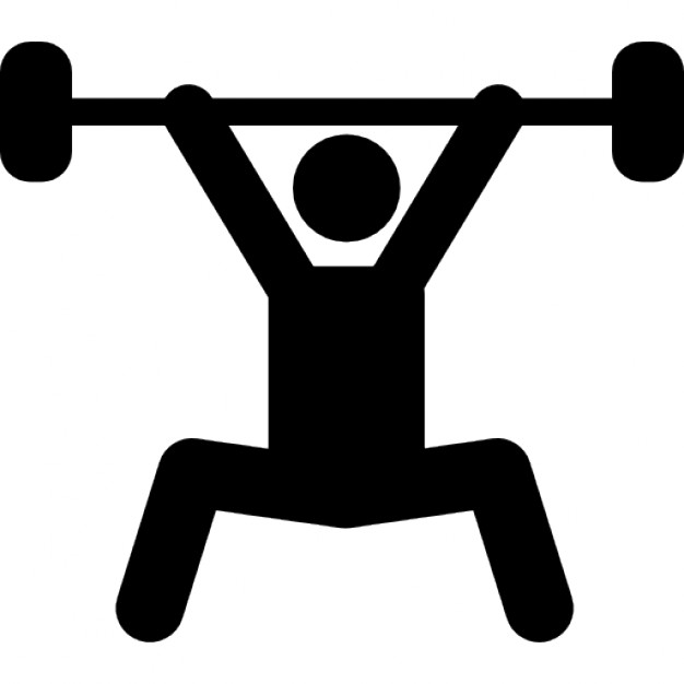 626x626 Weightlifting Silhouette, Power Sport Icons Free Download