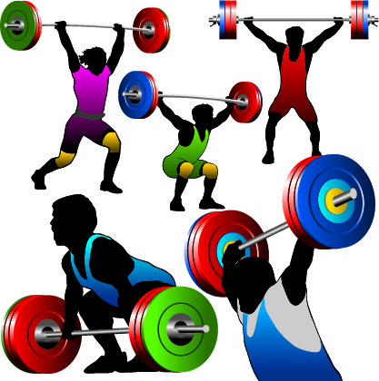417x420 Weightlifting Silhouettes Vector Free Vector In Encapsulated