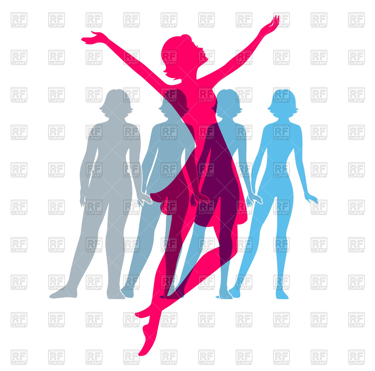 1200x1188 Silhouettes Of Women