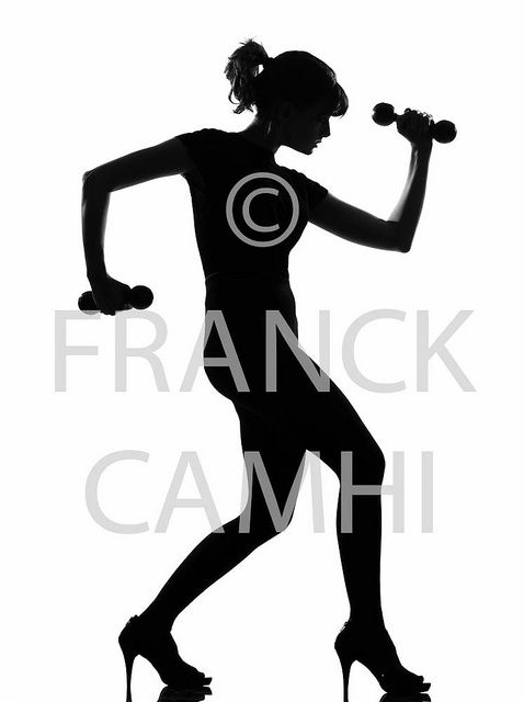 478x640 Full Length Silhouette In Shadow Of A Young Woman Workout Body