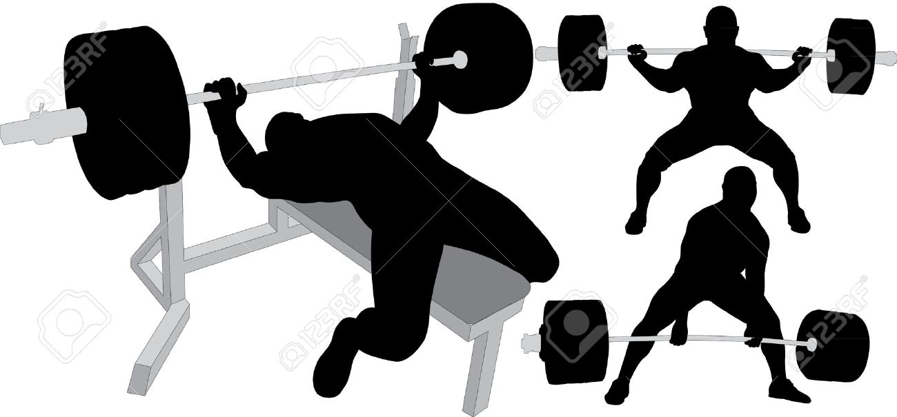 1300x605 Weightlifting Silhouette Clipart Collection