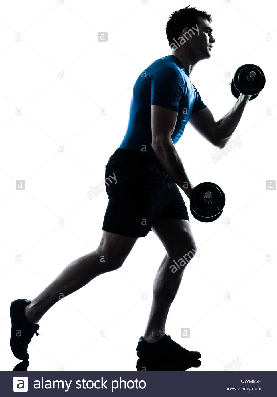 971x1390 One Caucasian Man Exercising Weight Training Workout Fitness