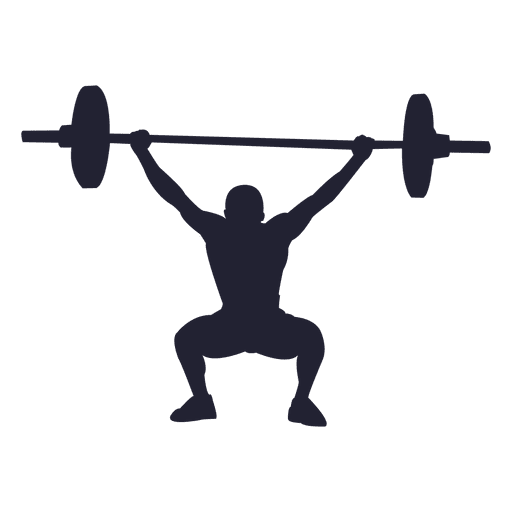 512x512 Weight Lifting Silhouette 1