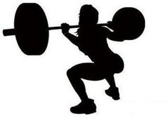 236x175 Weightlifter Silhouette Vinyl Ideas Silhouettes