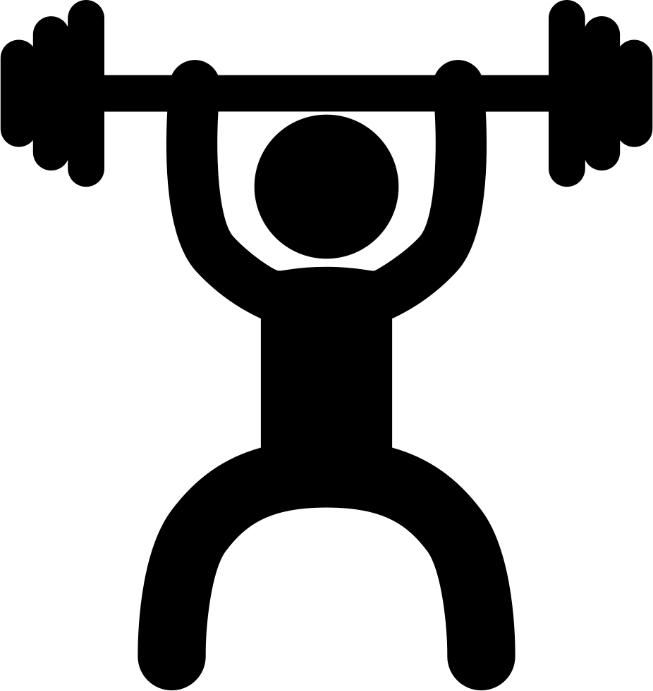 926x981 Weightlifter Frontal Silhouette Svg Png Icon Free Download ( 23169