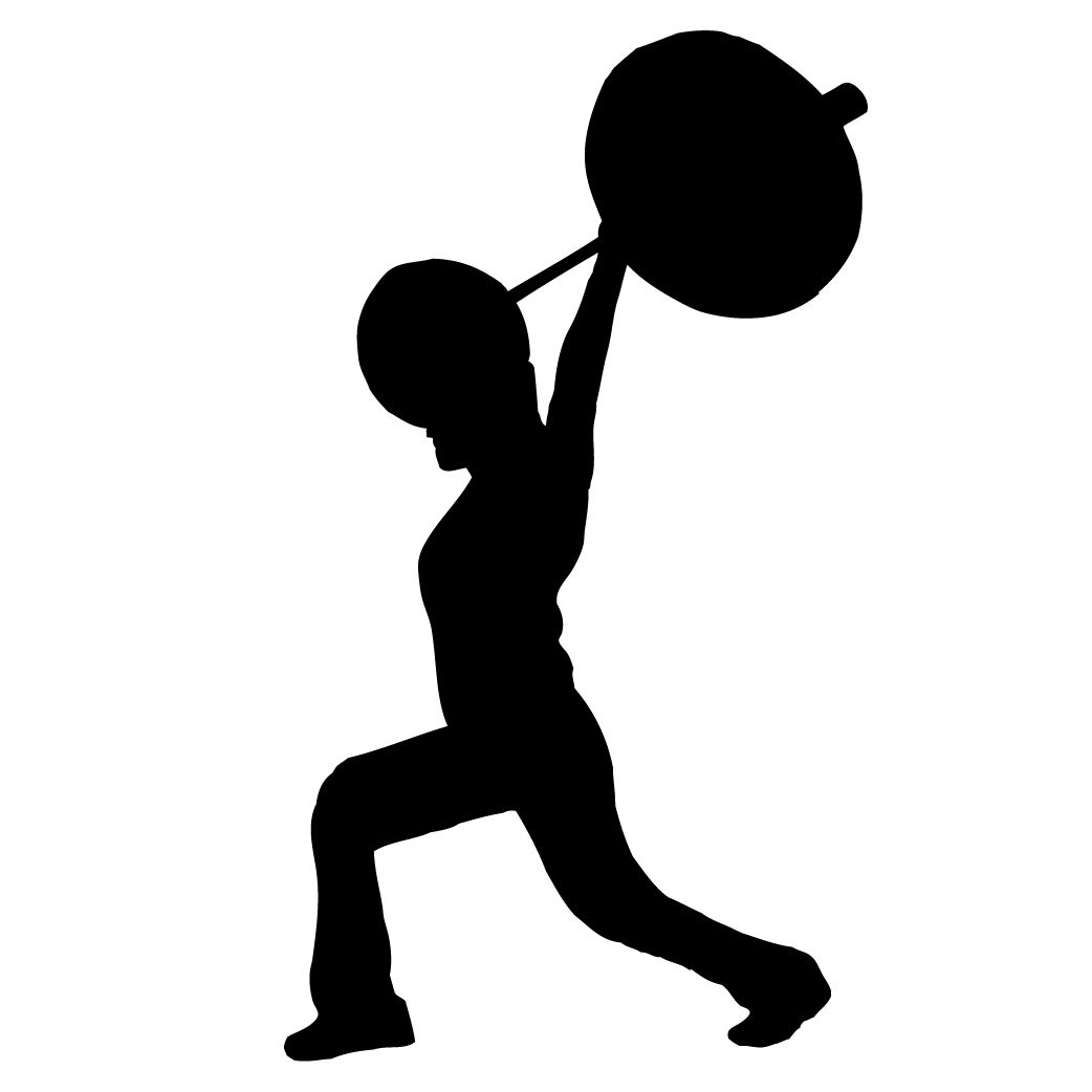 1042x1042 Weightlifter Silhouette Silhouettes