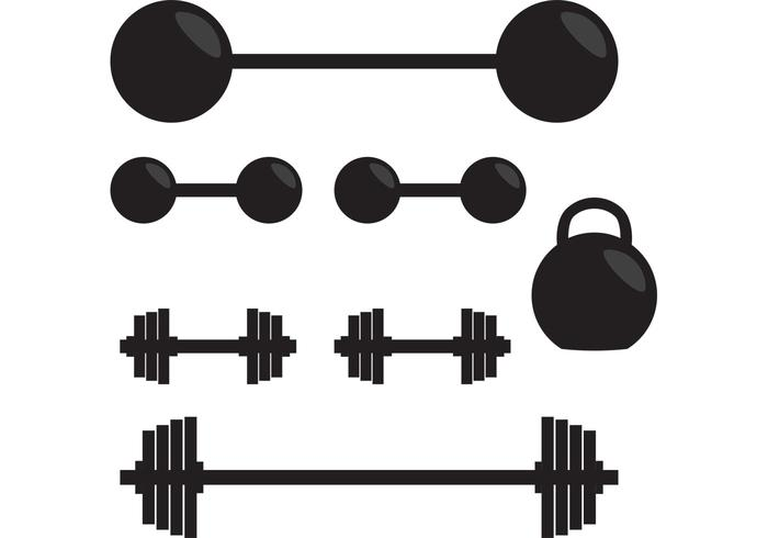 700x490 Silhouette Of Gym Vector Weights