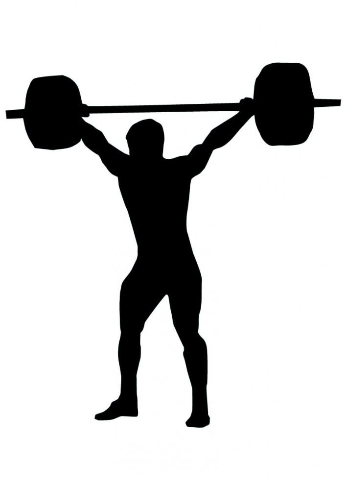 707x1000 Weight Lifting Silhouette