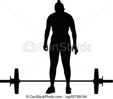 450x394 Weight Lifting Girl Silhouette Eps Vectors