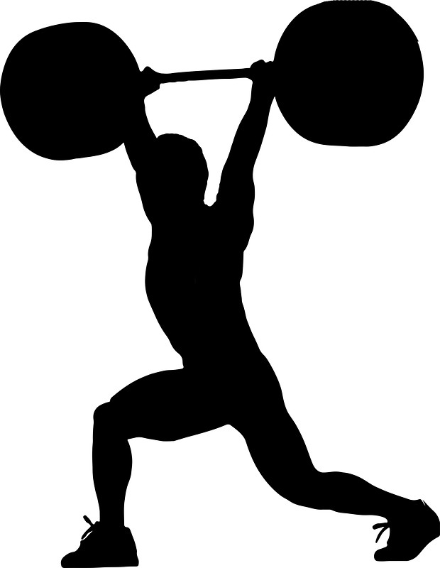 620x800 Weightlifting Exercise Silhouette Stickers By Uptownmatt91