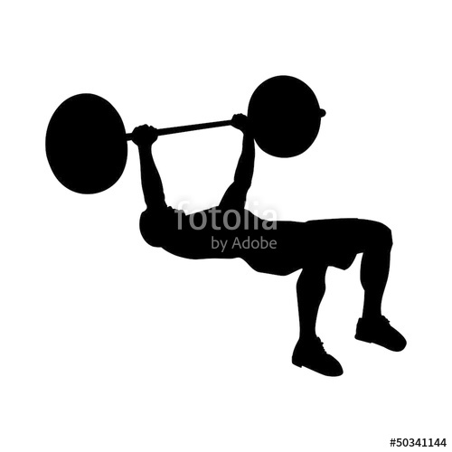 500x500 Low Bench Press Silhouette Stock Image And Royalty Free Vector