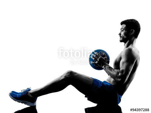 500x375 Man Exercising Fitness Weights Silhouette Stock Photo And Royalty