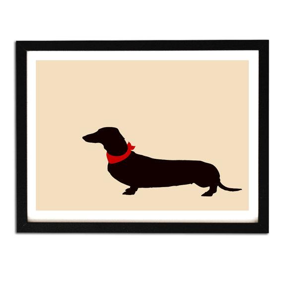 570x570 Dachshund Art Fine Art Print Dachshund Dog Silhouette