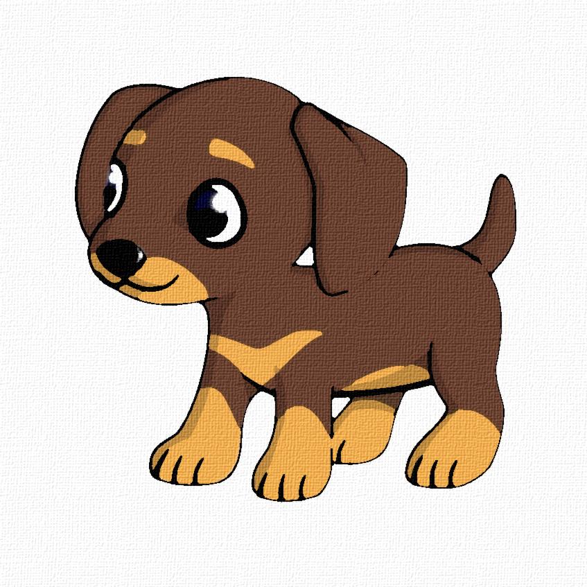 847x847 Weiner Dog Clip Art