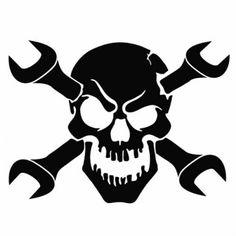 236x236 Welder Skull Decal Welding Cricut, Tattoo