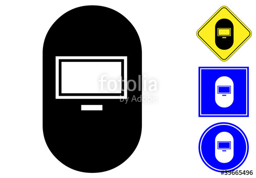 500x348 Welding Mask Pictogram And Signs Stock Image And Royalty Free