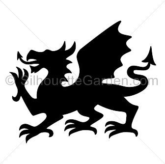 336x334 Welsh Dragon Silhouette Clip Art. Download Free Versions