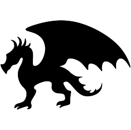 263x262 Dragon Silhouette Free Svg Cricut Projects Dragon