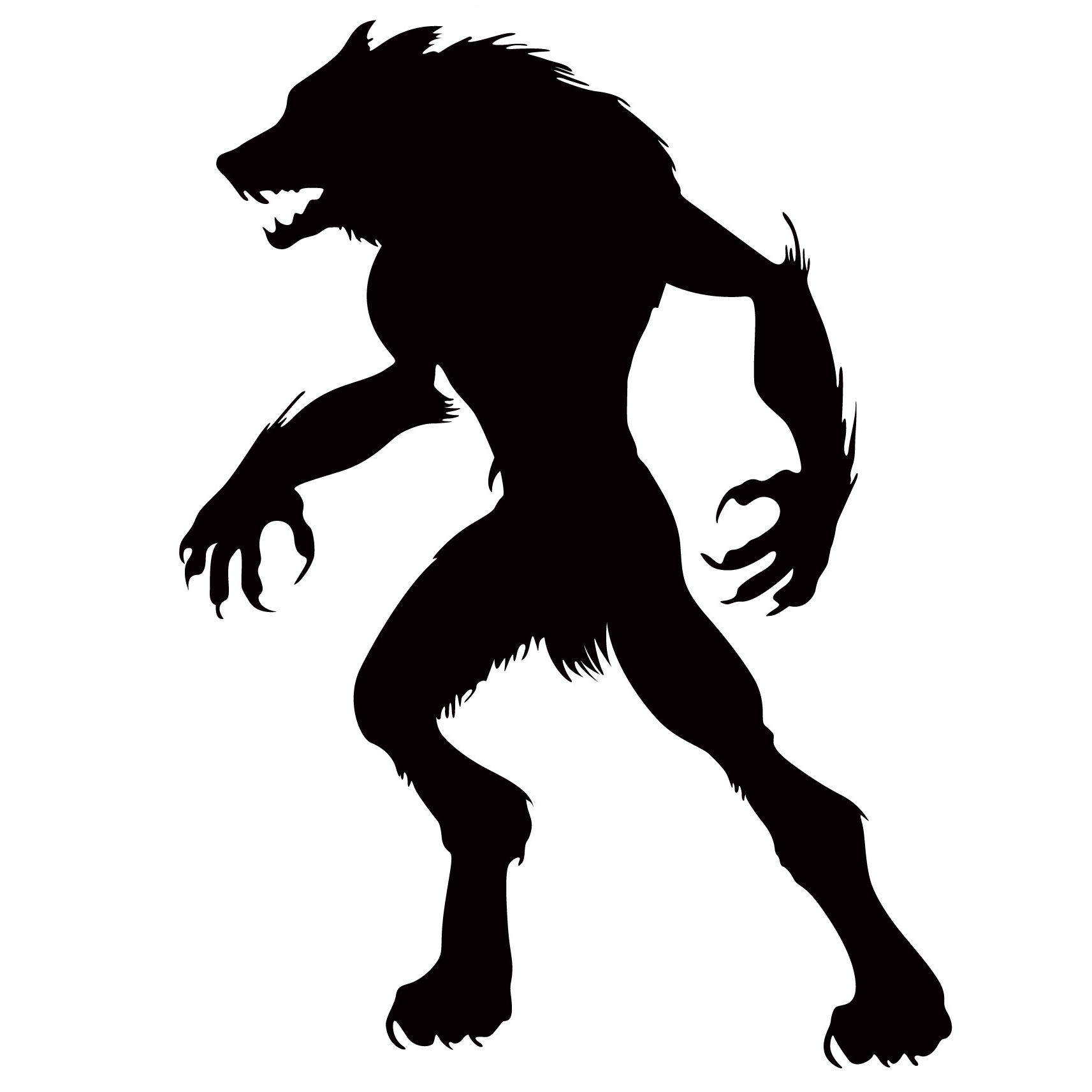 Werewolf Silhouette At Getdrawings Com Free For Personal