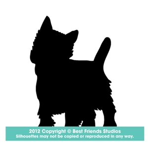 300x300 West Highland Terrier Dog Silhouette Gifts, Stationery, Address