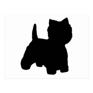 324x324 West Highland Terrier Silhouette Cards Zazzle