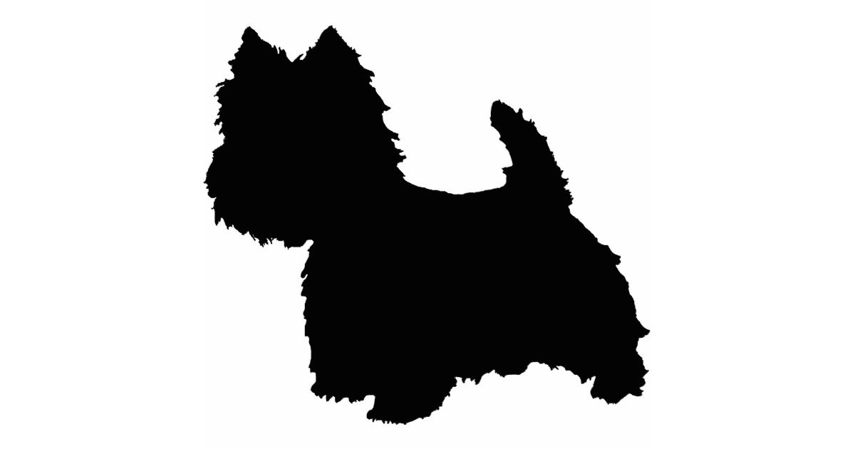 1200x630 West Highland White Terrier Silhouette Standing Photo Sculpture