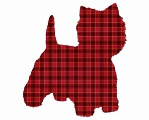 300x242 Westie Art Plaid West Highland Terrier Dog Puppy Wall Home Decor