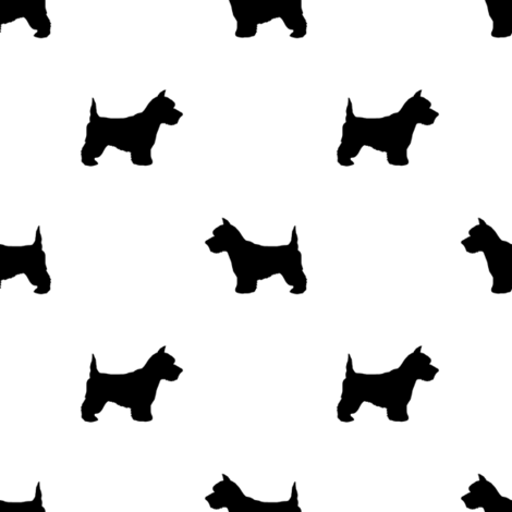 470x470 Westie West Highland Terrier Dog Silhouette White Wallpaper