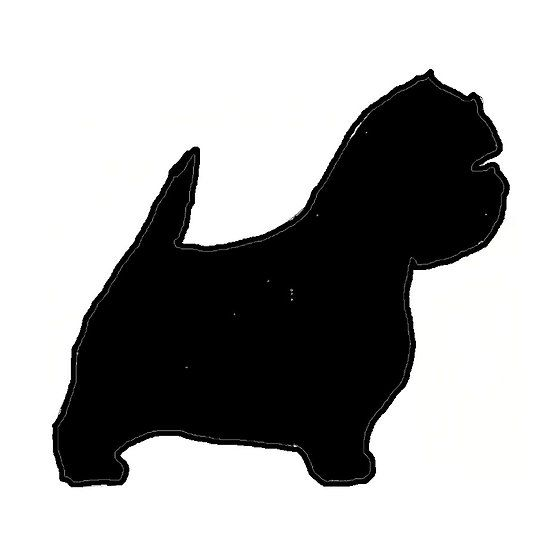 550x550 West Highland White Terrier Silhouette West Highland White