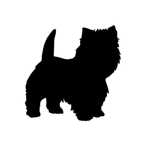 600x600 Westie Silhouette All Things Bright Amp Beautiful