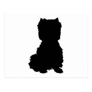 307x307 Maggie Ross Dogs Westie Silhouette Postcards Zazzle