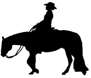 300x257 Western Horse Rider Horse Sticker Decal Brand New For Car,float