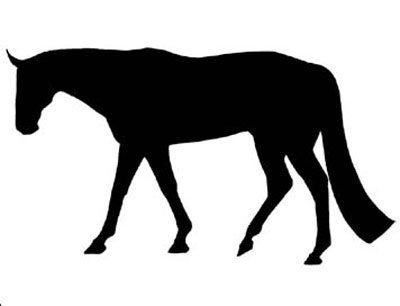 400x306 Horse Stickers, Hunter, Dressage, Western English Riding Apparel